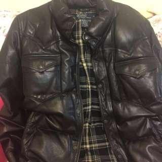 Polo Ralph Lauren leather jacket 皮羽絨