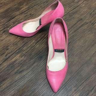 二手 正韓 顯色美肌維多利亞粉高跟鞋