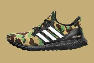 BAPE X ADIDAS ULTRABOOST GREEN US9.5/UK9