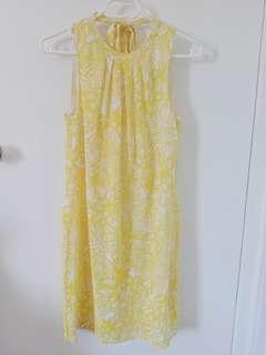 H&M High Neck Summer Dress - Yellow XS