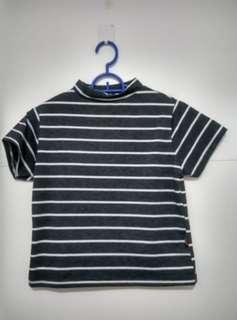 Baju crop garis