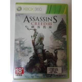 中文版 ONE可玩 刺客教條3 XBOX 360 Assassin's Creed III