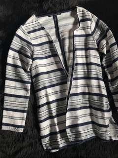 Long Striped Cardigan