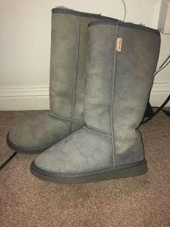 Ugg long boots size 7 grey RRP $220