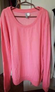 Divided Pink Sweater Eur/US Large
