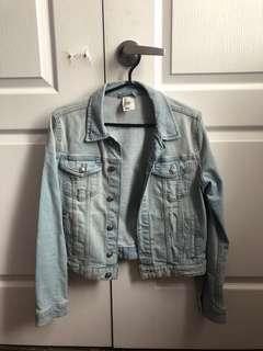 H&M mid cropped jean jacket