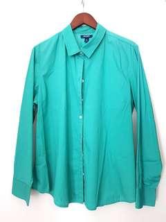 stretch green blue blouse
