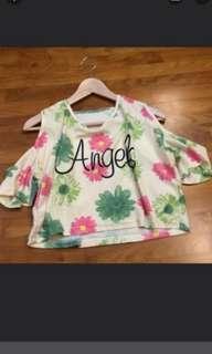 🚚 Summer pastel cold shoulder top