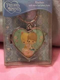 Precious moments keychain with mirror & photo frame