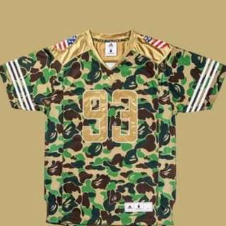 75ef6b0d2 Mitchell and Ness x Bape, Men's Fashion, Clothes, Tops on Carousell