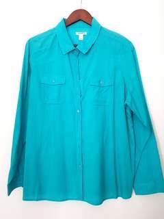 seaweed green blouse