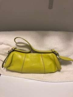 Authentic Lime Yellow Tods Hangbag