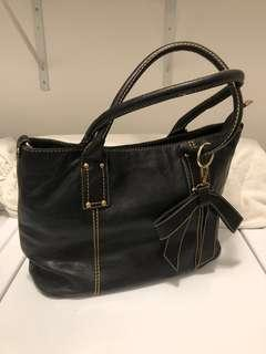Cute Black Tote with Bow