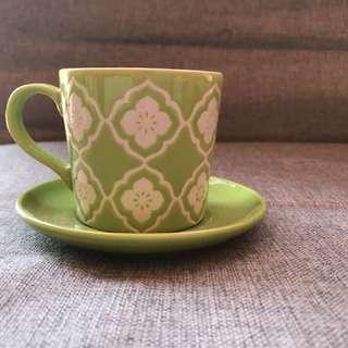 Moroccan print ceramic cup