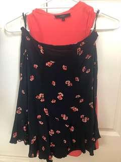 Saba silk matching top and skirt size 6