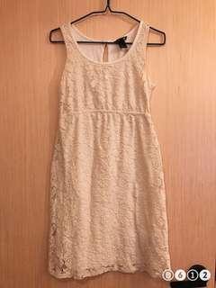 🚚 White maternity dress