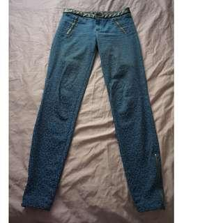 Zara print blue pants AU 6