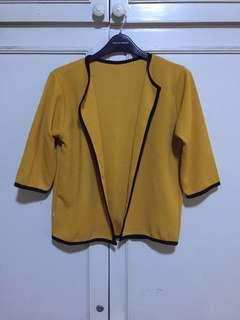 Yellow Open Cardigan