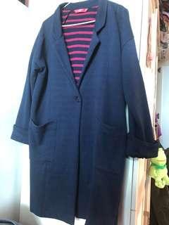 日本牌子 Graniph 深藍色外套(內裡橫間款) (只拆牌 未著過 包順豐)