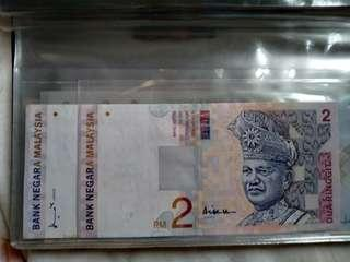 RM2 old antique notes(two different signatures)