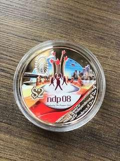 """F034 - Singapore 2008 """"NDP"""" Silver Proof Coin"""