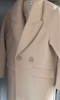 韓國 中褸 毛呢大衣 夾綿 過膝 大衣