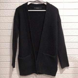 🚚 歐美品牌 VERO MODA 黑色針織外套 罩衫