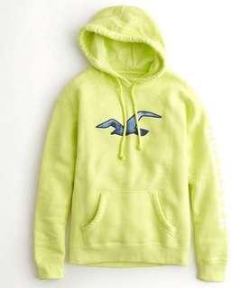 Hollister neon hoodie