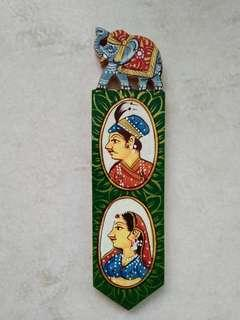 India Vintage Wooden Bookmark