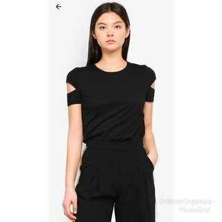 Something Borrowed Cut Out Sleeves Top