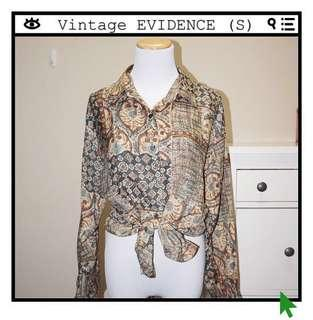 *Perfect Condition* VINTAGE EVIDENCE 100% Silk Button Down Shirt Women Size S