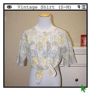 *Great Condition* Shirt Print Shirt Women Size S-M