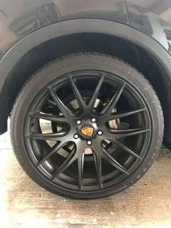 Cayenne 955 957 958 rims/wheels with tyre