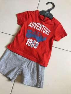 Mothercare set tshirt & pants