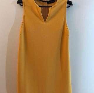 Zalora mustard mini dress