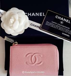 🚚 ❤FREE❤ #Blessing Pre-CNY Giveaway LIMITED Design CHANEL Chanel Card key holder Purse/ Compact Wallet (Full set Gold hardware + Caviar + Authentic Receipt)