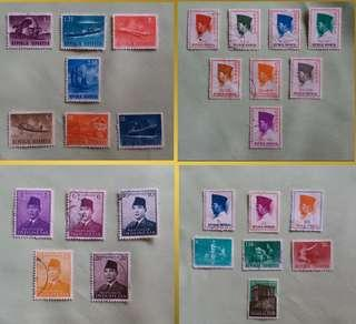 Vintage Republic Indonesia Stamps (Self Collect @Blk 113 Jurong East St.13)