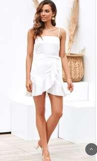 White mini dress size 8 tag still attached