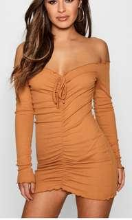Petite Ruched Bodycon Dress