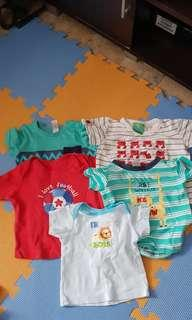 Pre loved baby shirts