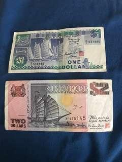Old Singapore Money Notes