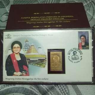 Perangko Emas Ibu Tien Soeharto