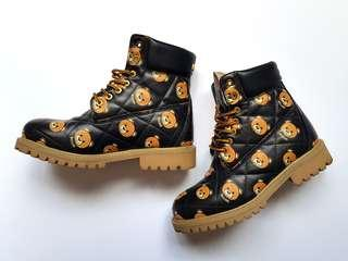 Moschino Couture Bear Combat Boots