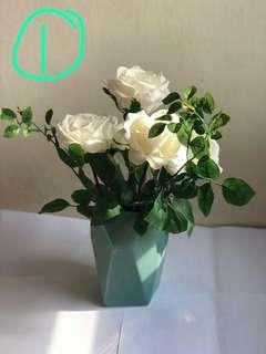 裝飾花 花瓶(三花瓶連花,一花樽,一玻璃瓶)