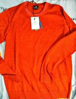 全新PS Paul Smith 橙色羊毛冷衫