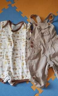 Pre loved baby onesie and jumper