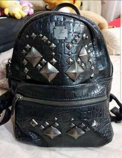 MCM Backpack with Ruethenium Studs
