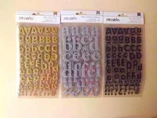 Scrapbook Alphabet Stickers