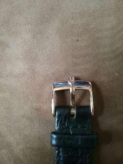 刁陀原裝包金扣皮帶18mm
