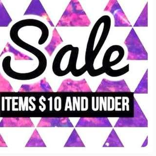 MOST ITEMS UNDER $10!